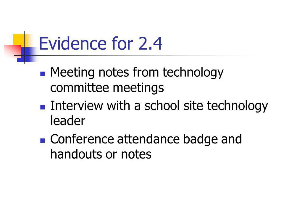 Evidence for 2.4 Meeting notes from technology committee meetings