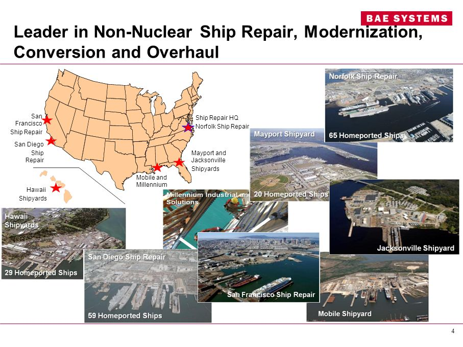 Leader in Non-Nuclear Ship Repair, Modernization, Conversion and Overhaul