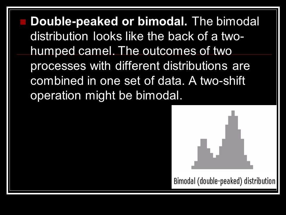 Double-peaked or bimodal