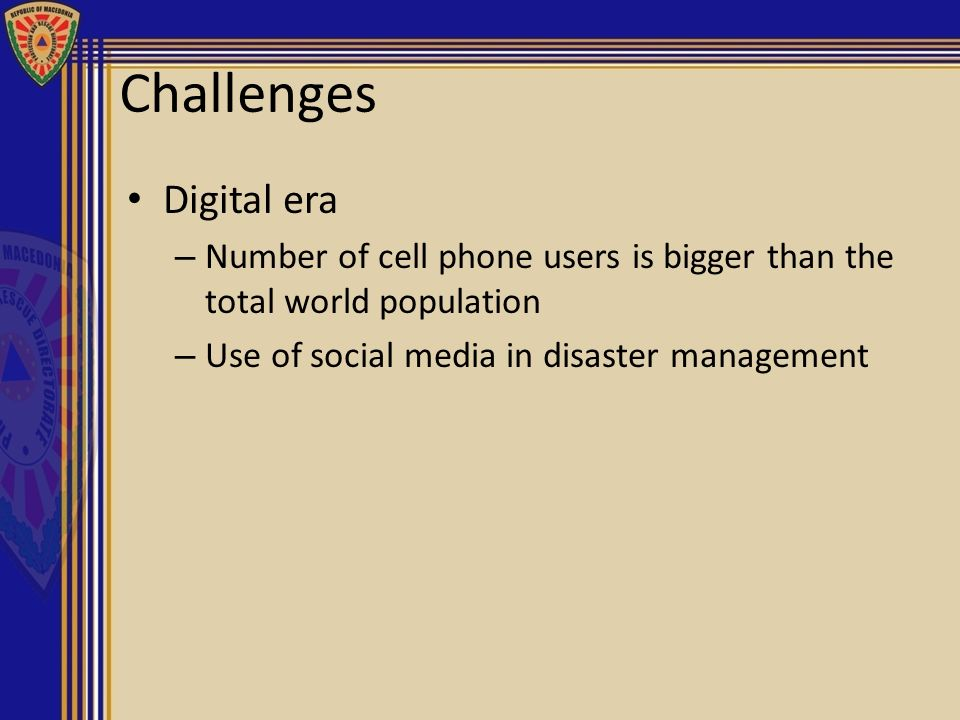Challenges Digital era