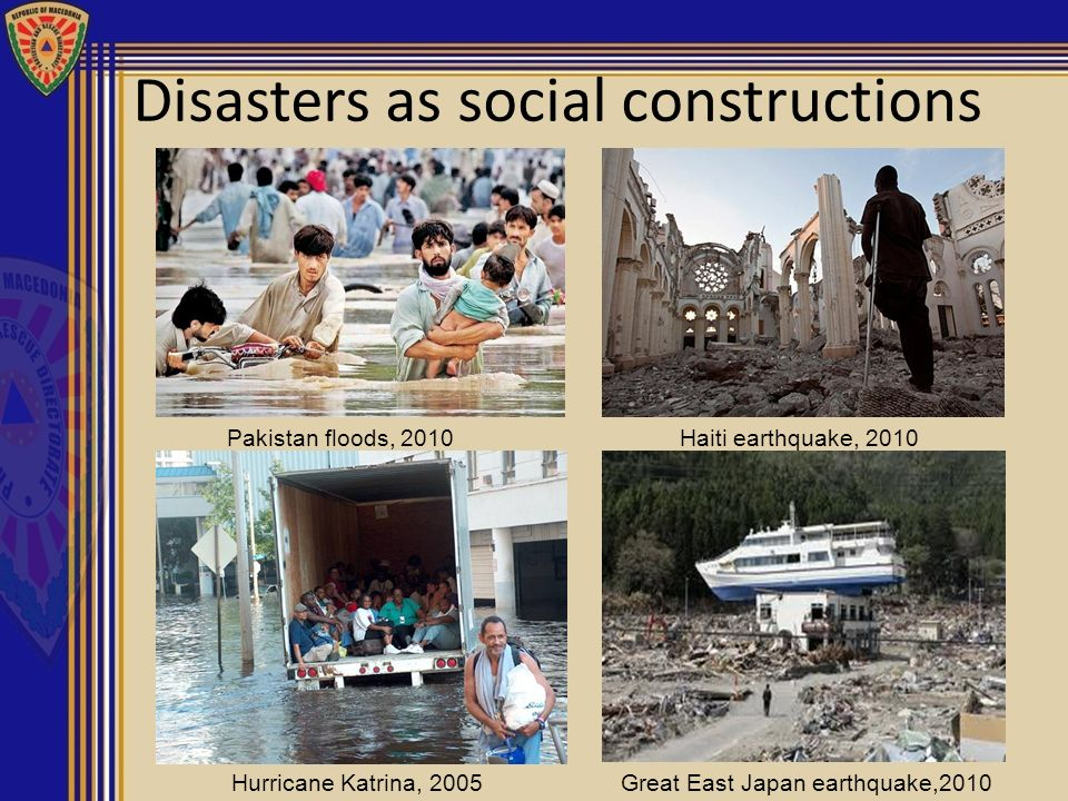 Disasters as social constructions