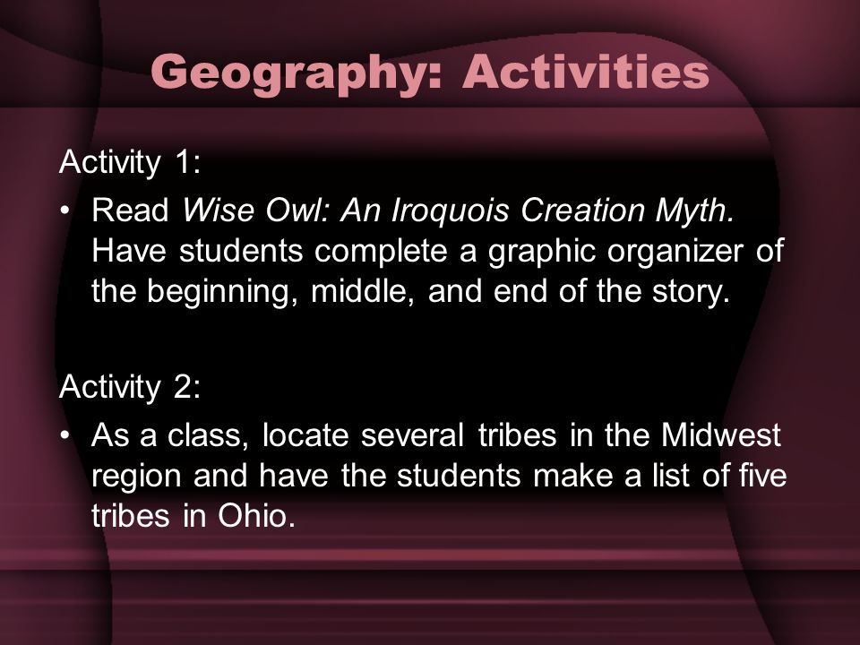 graphic organizer for creation myths