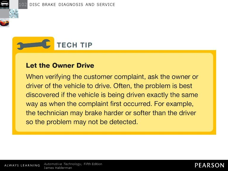 DISC BRAKE DIAGNOSIS AND SERVICE - ppt download