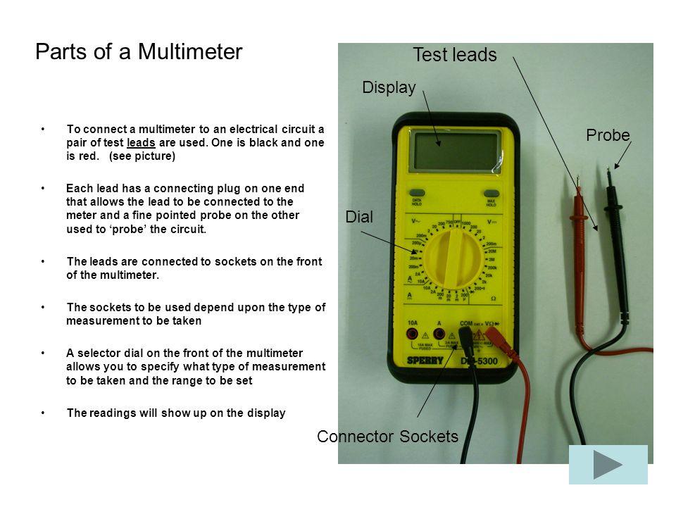 Labeled Diagram Of A Multimeter Diy Wiring Diagrams