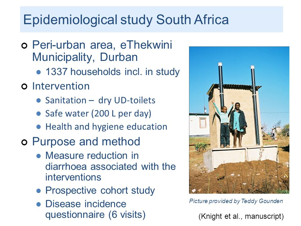 Epidemiological study South Africa