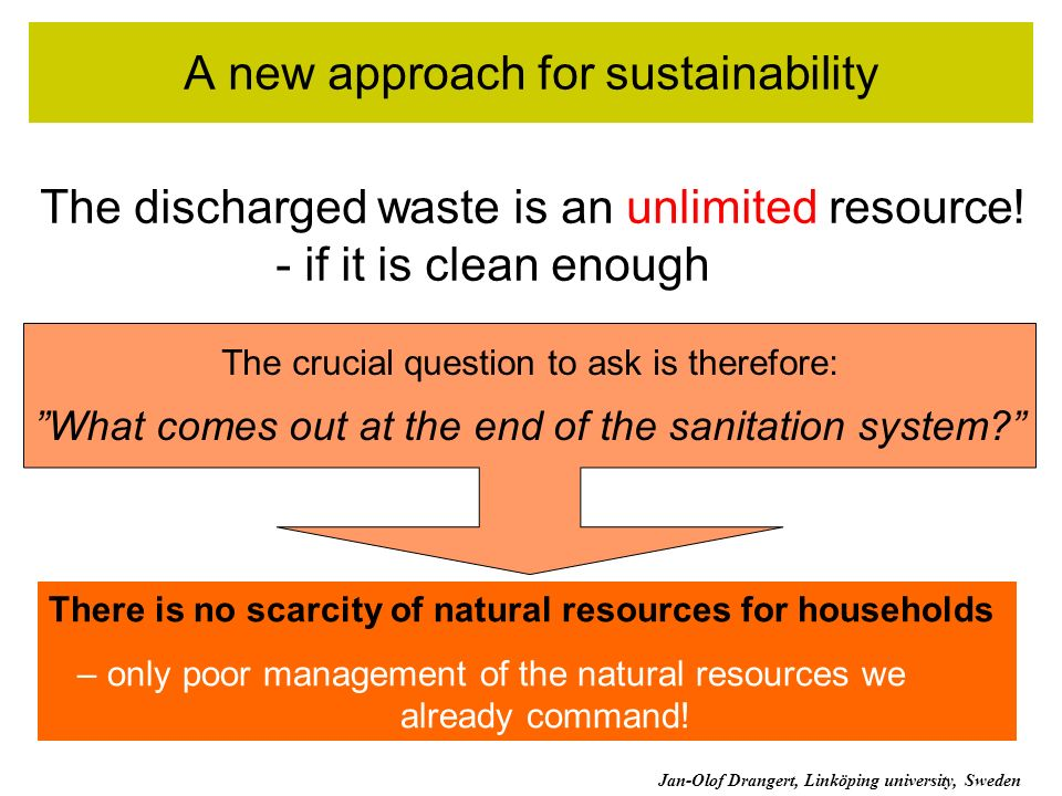 A new approach for sustainability