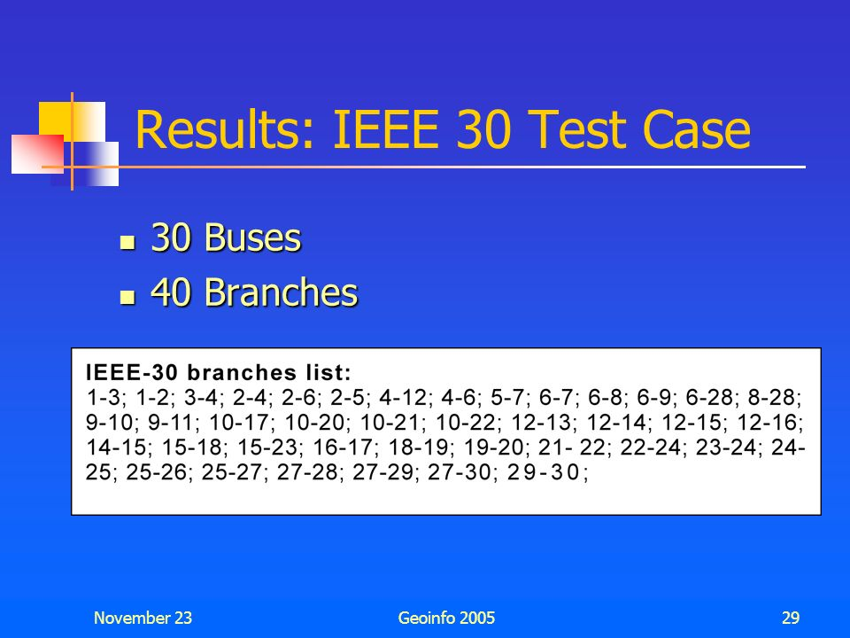 Results: IEEE 30 Test Case