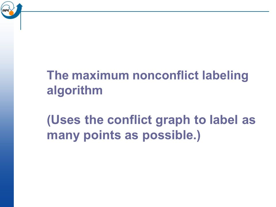 The maximum nonconflict labeling algorithm (Uses the conflict graph to label as many points as possible.)