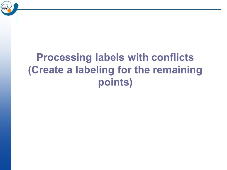 Processing labels with conflicts (Create a labeling for the remaining points)