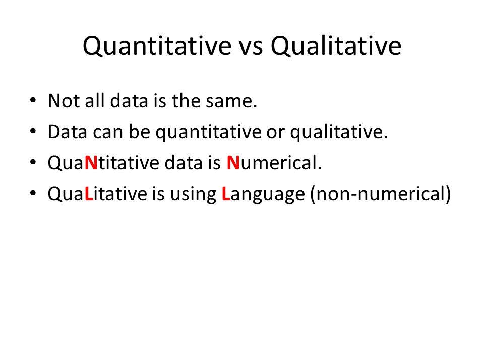 Qualitative vs Quantitative - ppt video online download