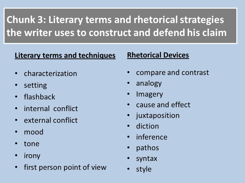difference between rhetorical devices and literary devices