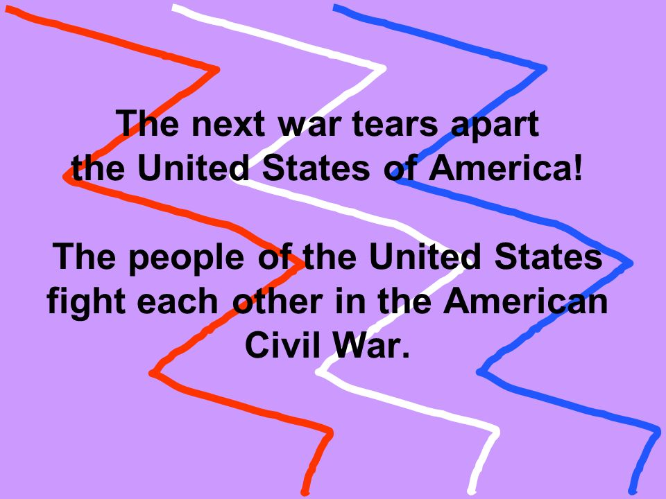 The next war tears apart the United States of America