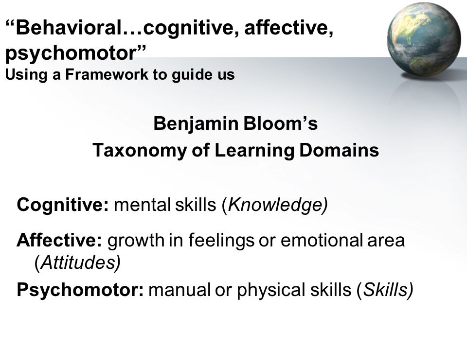 Taxonomy of Learning Domains