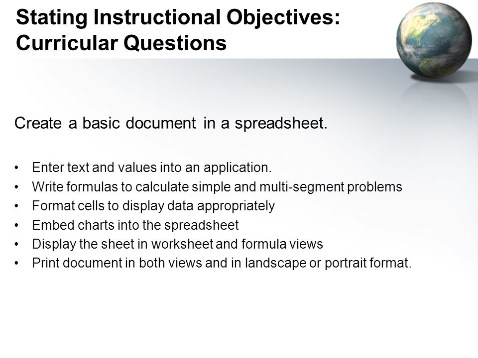 Stating Instructional Objectives: Curricular Questions