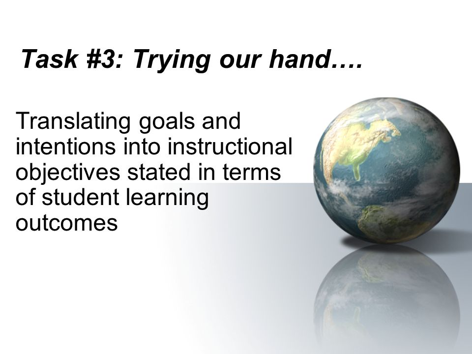 Task #3: Trying our hand….