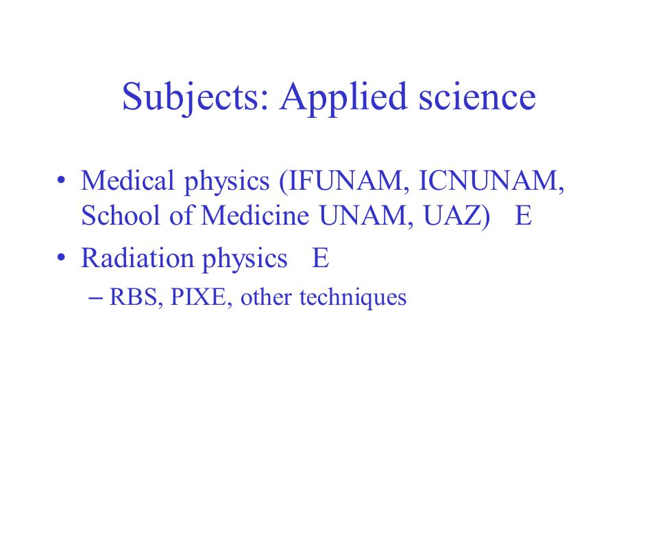 Subjects: Applied science