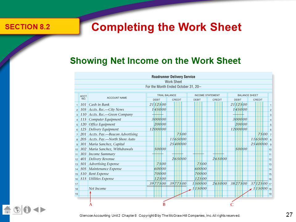 Chapter 8 The Six-Column Work Sheet - ppt video online download