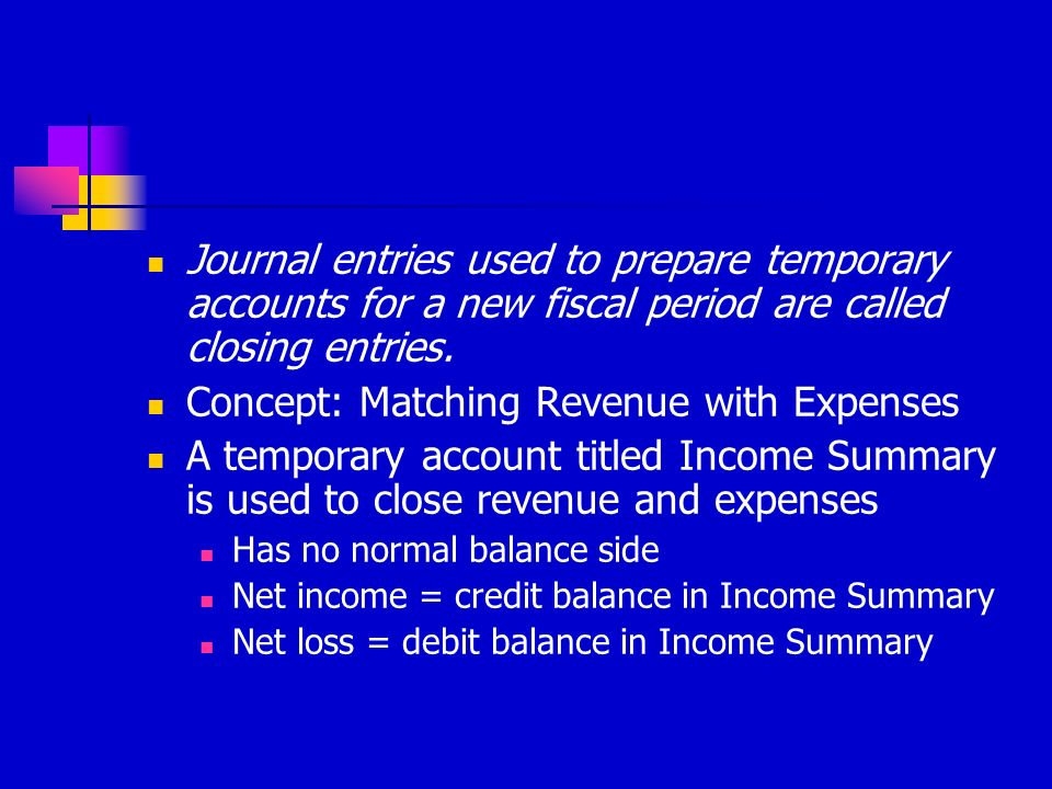 Concept: Matching Revenue with Expenses