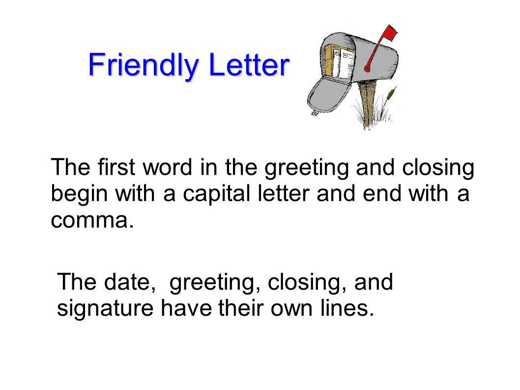 13 friendly letter