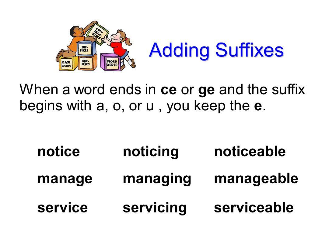 Lesson 44 Level 3 Language Arts Adding Suffix Rules Friendly Letter