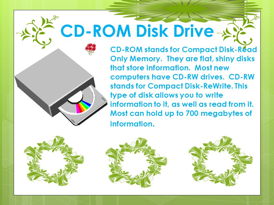 what do the letters cd rom stand for computer basics for just how does a computer work 25509 | CD ROM Disk Drive
