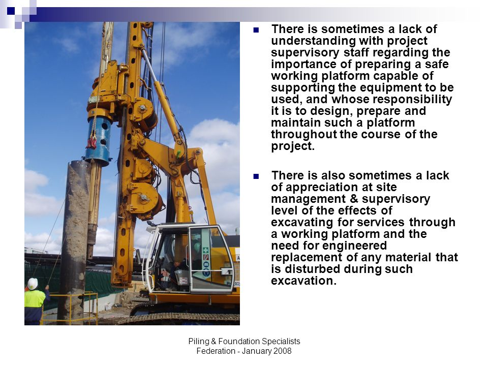 Piling & Foundation Specialists Federation - ppt video
