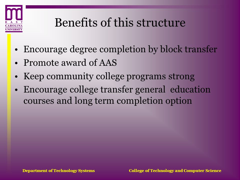 Benefits of this structure