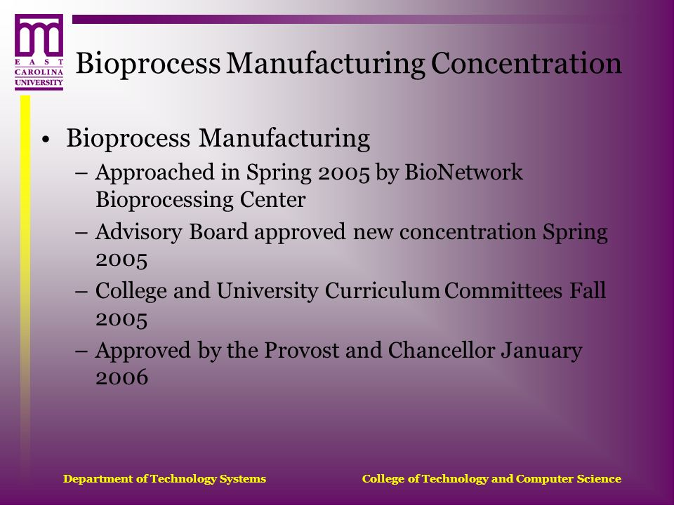 Bioprocess Manufacturing Concentration