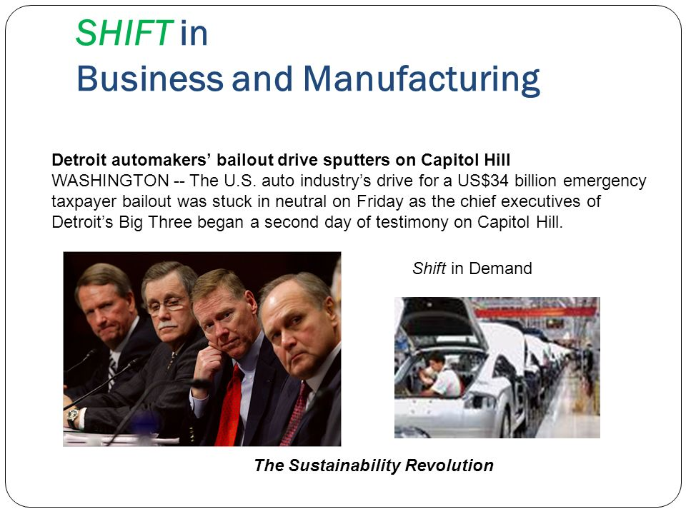 SHIFT in Business and Manufacturing