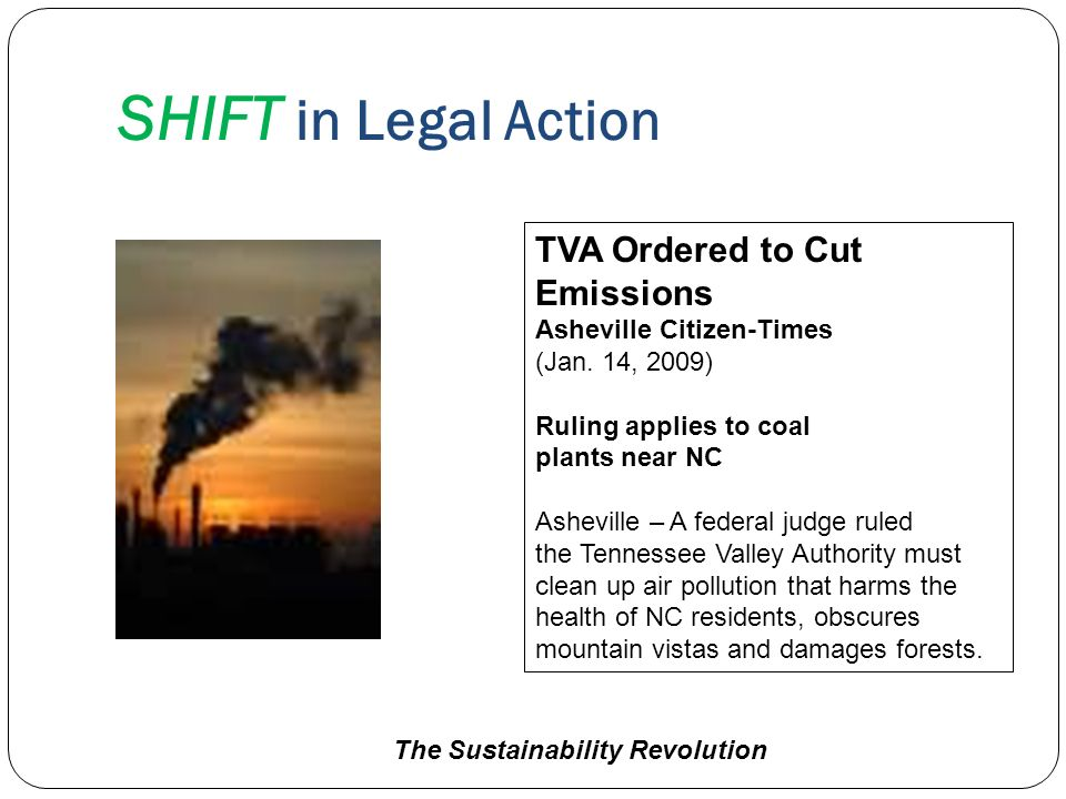 SHIFT in Legal Action TVA Ordered to Cut Emissions