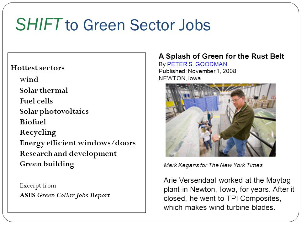 SHIFT to Green Sector Jobs