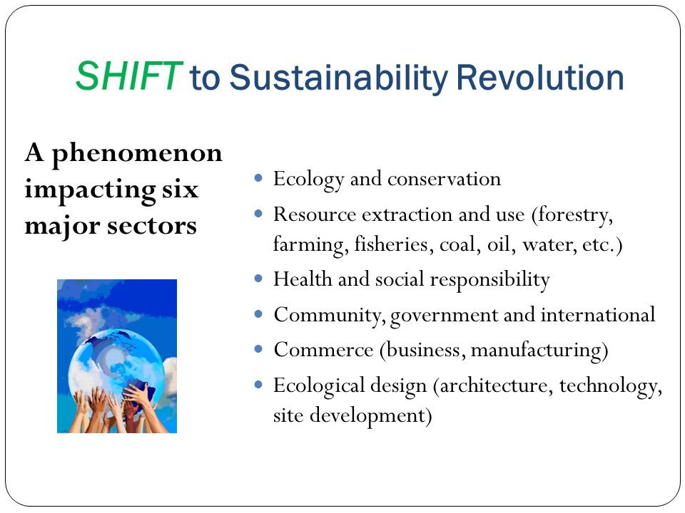SHIFT to Sustainability Revolution