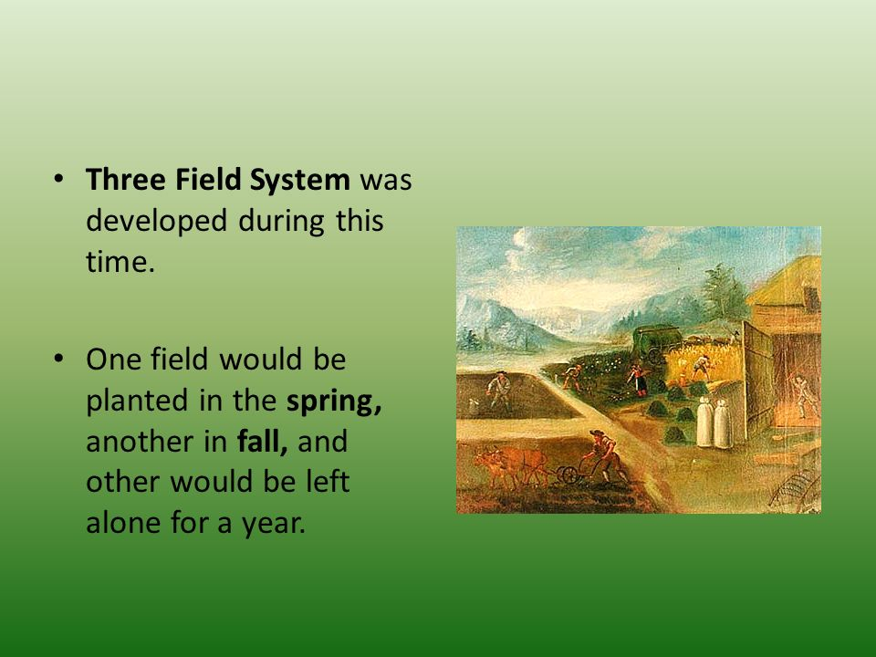 Three Field System was developed during this time.