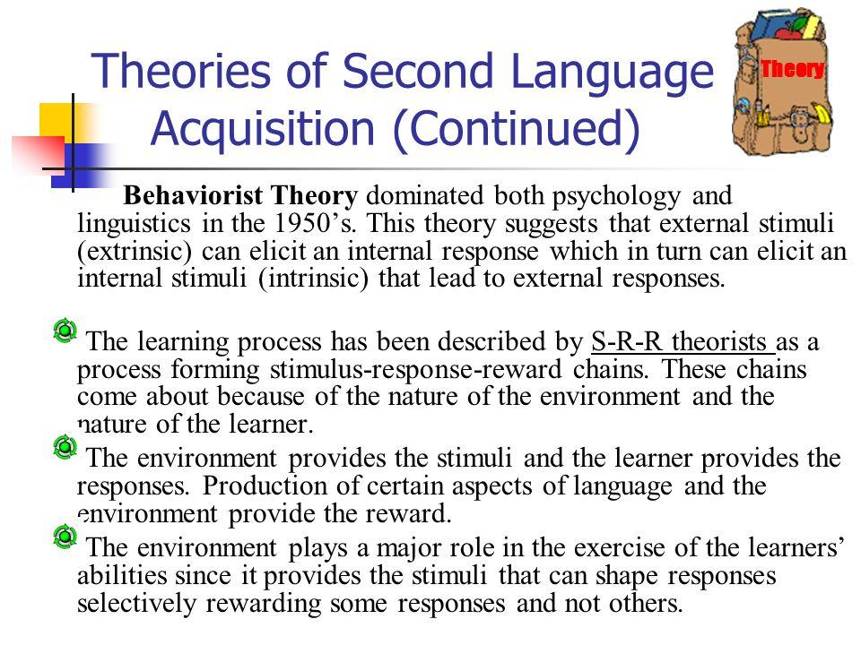behaviorist theory of language acquisition bf skinner