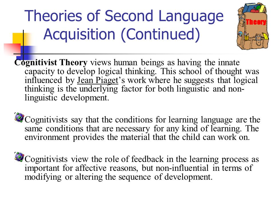 what are the theories of language development