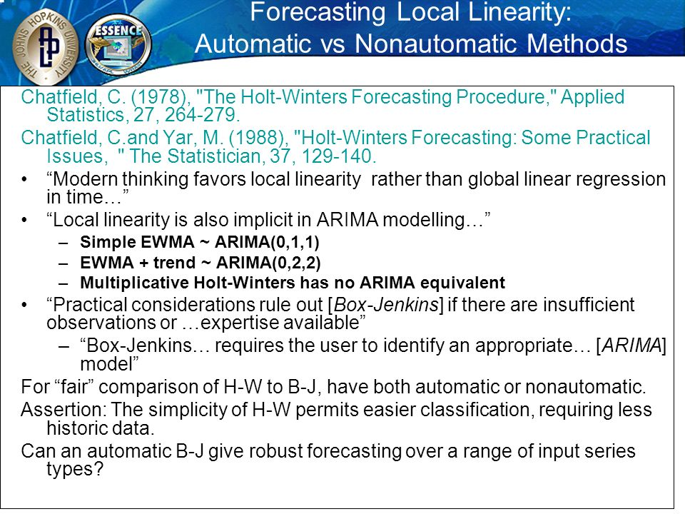 Forecasting Local Linearity: Automatic vs Nonautomatic Methods