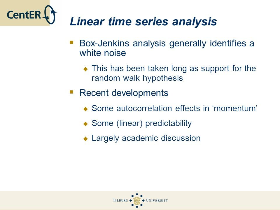 Linear time series analysis