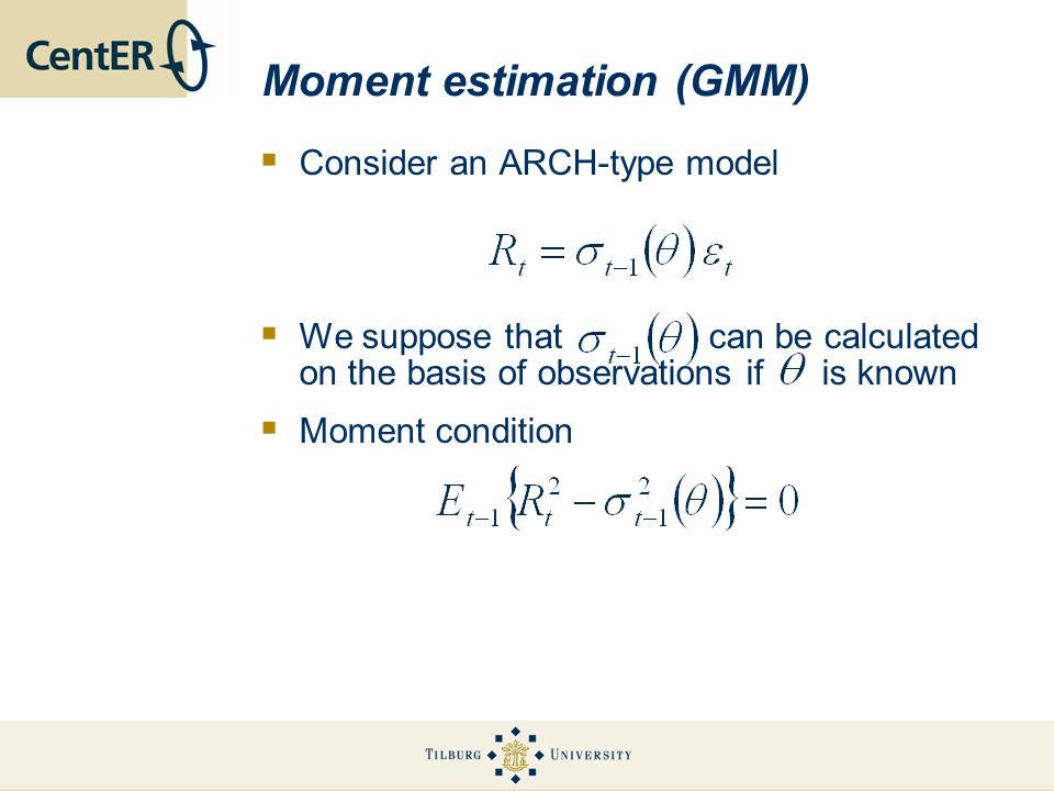 Moment estimation (GMM)