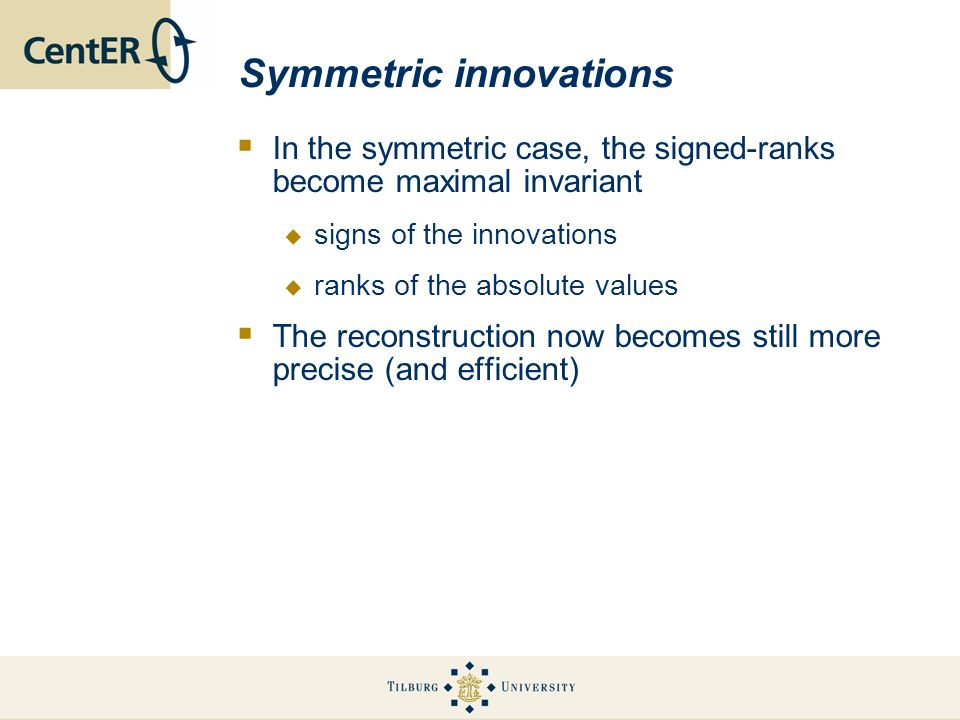 Symmetric innovations