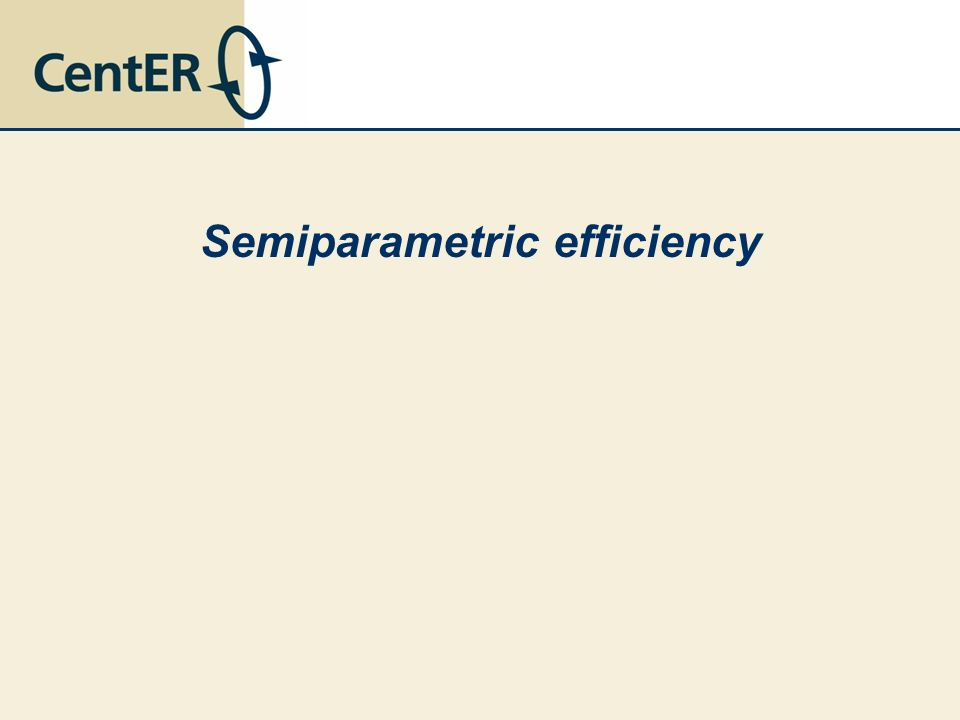 Semiparametric efficiency