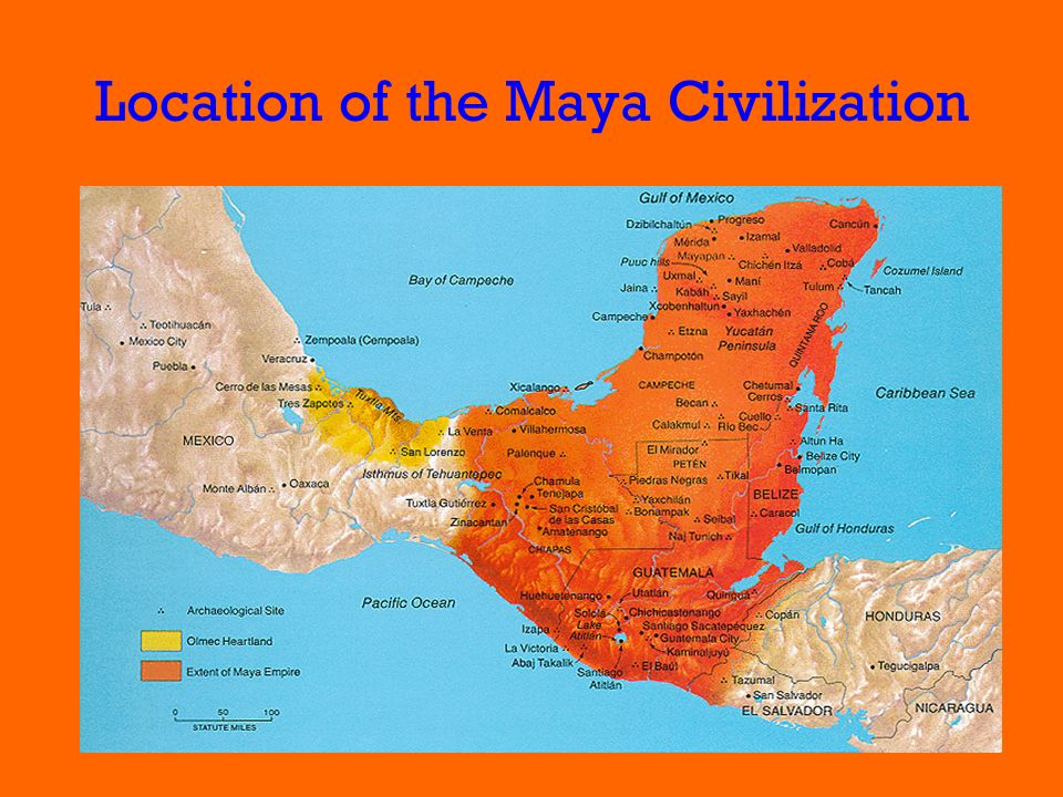 Location of the Maya Civilization