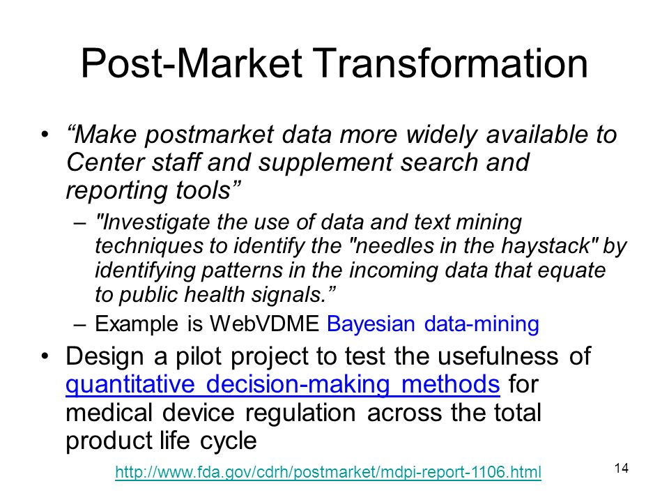 Post-Market Transformation