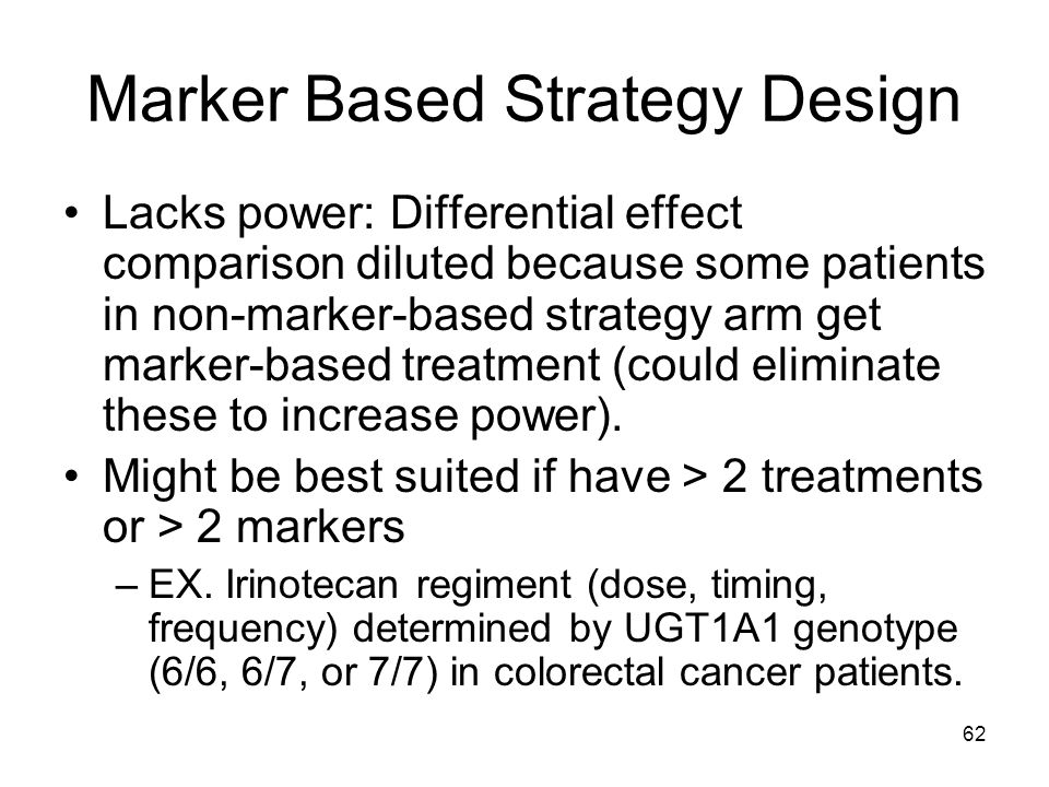 Marker Based Strategy Design