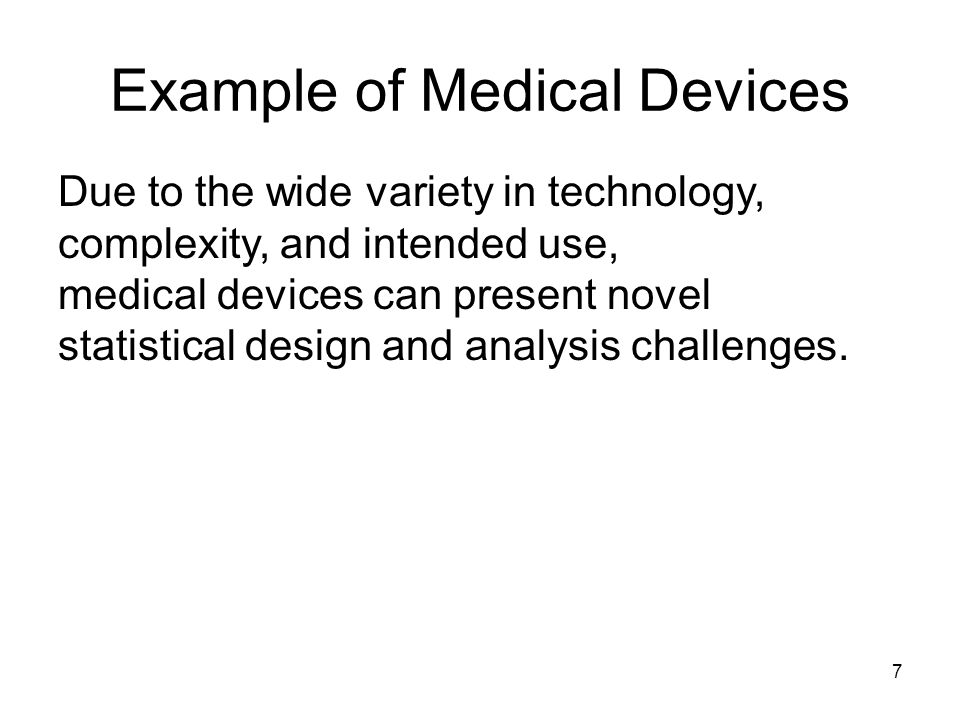 Example of Medical Devices