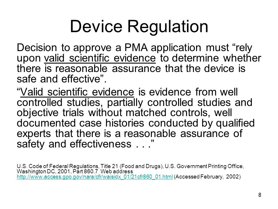 Device Regulation