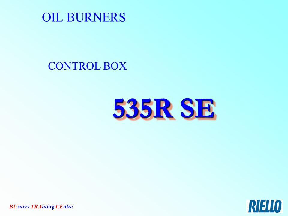 OIIL BURNERS R D B series Riello Burners - TRAining CEntre. - ppt ...