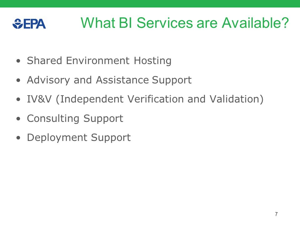 What BI Services are Available