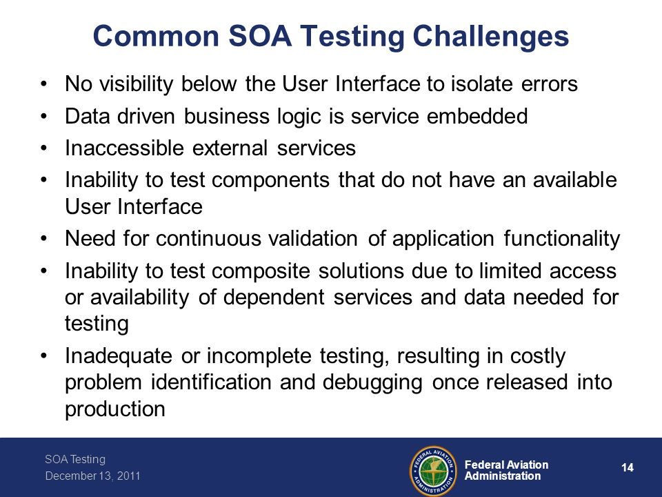 Common SOA Testing Challenges