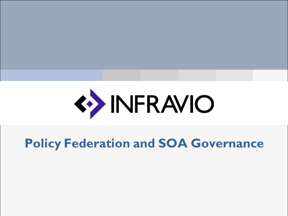 Policy Federation and SOA Governance