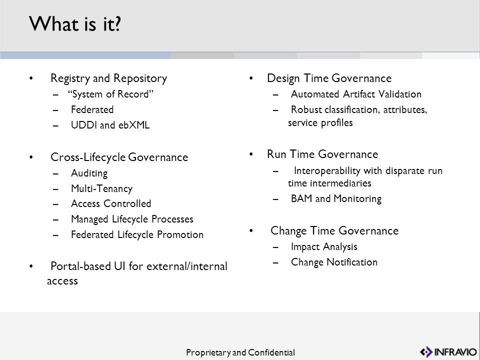 What is it Registry and Repository Cross-Lifecycle Governance